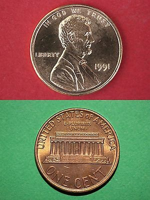 1991 P Lincoln Memorial Cent Uncirculated From Mint Sets Combined Shipping
