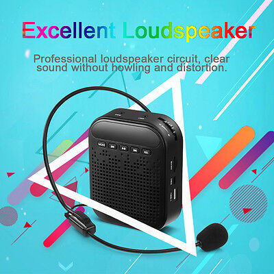 Portable Voice Amplifier Waistband Microphone Loudspeaker for Teaching Guide