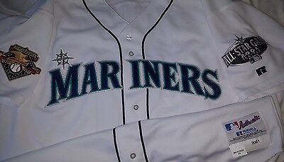Ichiro Suzuki 2001 Seattle Mariners Home Authentic Game Jersey