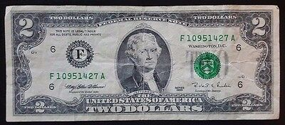 1995 American $2 Two Dollar Bill Note - CIRCULATED - United States of America