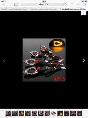 LED indicators,set of 4,red,plus relay,new,quad,raptor,buggy,motorcycle.