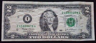 2003 American $2 Two Dollar Bill Note - CIRCULATED - United States of America