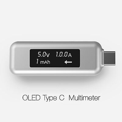 LINKIM USB Type-C Power Meter Tester Multimeter Current and Voltage Monitor with