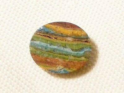"Turquoise Ribbon Rock (Usa) 10X12Mm Cabochon, 3.5Ct ""new"" Auz Seller C109"