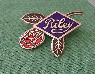 Lapel Badge/pin - Riley & Rose - Riley Motor Company Logo & Rose