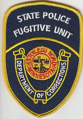 Minnesota Dept Of Corrections Doc State Police Fugitive Unit Patch Mn