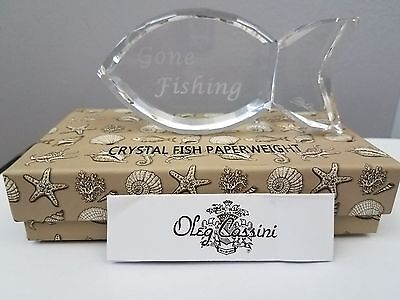 Oleg Cassini Crystal Clear Gone Fishing New in Box