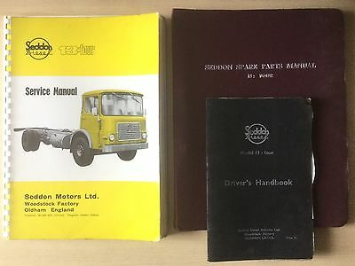 Collection Of 3 Seddon Diesel 13:four Manuals 1967/1971