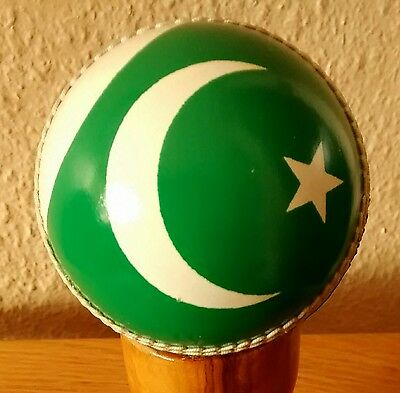 Pakistan Flag Design Real Leather Cricket Ball,Size Senior @ £10.95p - Top Gift