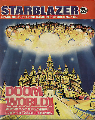 Doom World,starblazer Space Role-Playing Game In Pictures,no.152,comic,1985