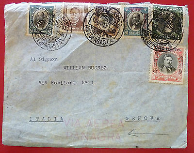 "Chile 1932 Air mailed  Cover from Antofagasta  multiple fr.- ""Via Aerea Panagra"""
