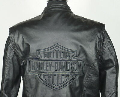 Hot Leathers Harley Davidson Embroidered Back Studded Jacket Women's XL