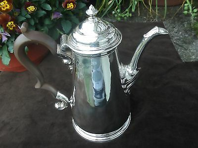 1743  Georgian George 11 silver coffee pot , 23ozs by Humphrey Payne