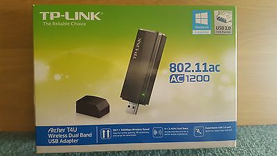 TP-LINK Archer T4U AC1200 1200 Mbps Dual Band Wireless USB 3.0 Adapter with USB