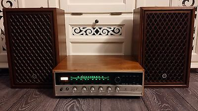 Vintage SANSUI Solid State  800 Stereo Tuner Amplifier mit Boxen  1968-1969