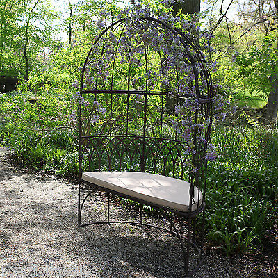Metal Arbour Bench Seat 2 Seater Outdoor Garden Patio Gazebo Style Furniture