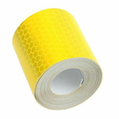 1 Piece Colorful Reflective Safety Warning Tape Film Sticker Yellow