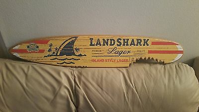 landshark lager mini surfboard and 10 drink coasters....ships free!!!!!!