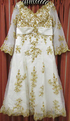 Gream Embroided Vintage Wedding Dress