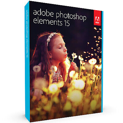 Adobe Photoshop Elements 15 Win Mac Retail Pack With Dvd New