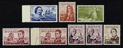 Australia 1963-65 navigators & ships set to £2, MNH (SG#355/360)