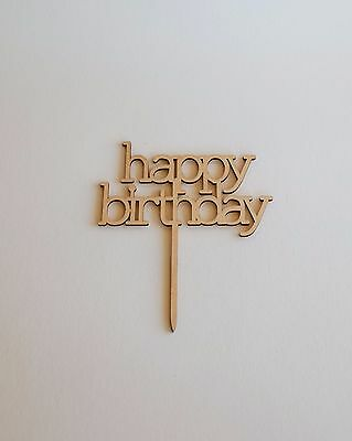 Wooden HAPPY BIRTHDAY Cake Topper | Cake Decoration | Rustic | Celebration Wood