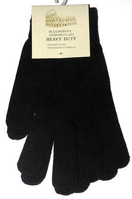 Brand New With Tags Mens Black Gloves