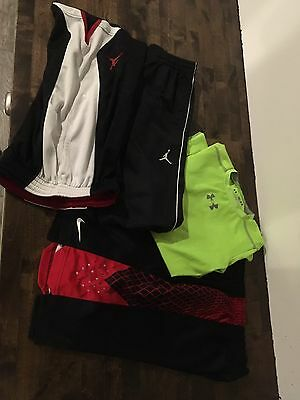Lot Boys Nike Shorts Medium Under Armour Shirt Air Jordan Pants Youth DRI-FIT