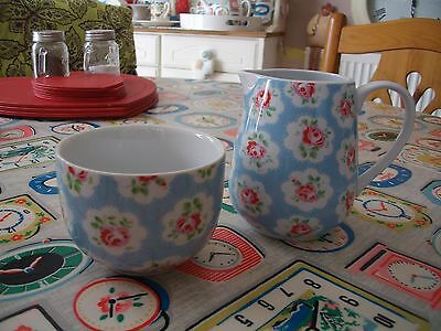 *RARE* CATH KIDSTON PROVENCE ROSE Milk Jug & Sugar Bowl *Mint Condition*