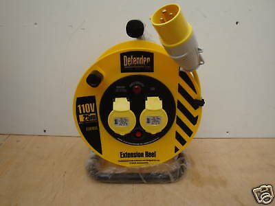 Defender E86450 25M 110V Heavy Duty Cable Extension Reel