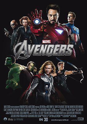 Marvel Avengers - A4 Glossy Poster -TV Film Movie Free Shipping #967
