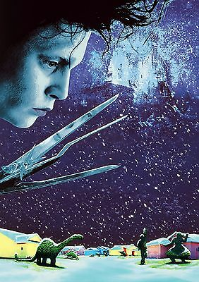 Edward Scissorhands - A4 Glossy Poster -TV Film Movie Free Shipping #951