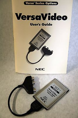 NEC VersaVideo PCMCIA Portable Digital Video Card w/Cable & Instructions