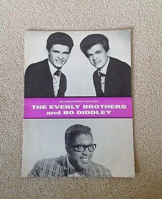 Everly Brothers/Bo Diddley/Rolling Stones 60's UK Tour Programme
