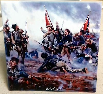 American Civil War - Confederate army REBELL YELL  GETTYSBURG TILE