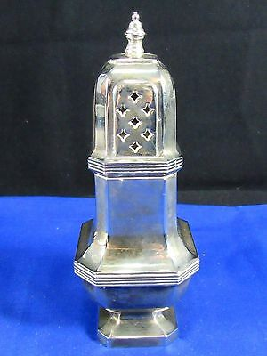 "Vintage Silver Plated Sugar Shaker-Muffineer,7"" tall, Victorian,Made in England"