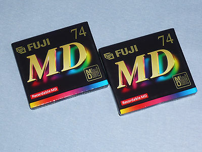 "2x Fuji MD S 74 - MiniDisc - Made in Japan - Minidisk  - ""NEU""  in OVP - Sealed"