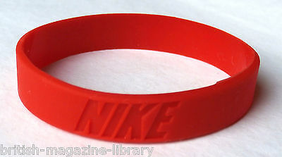 Red - x1 NEW Nike Wrist Band Baller Silicone Rubber Band