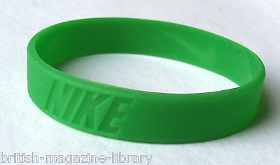Green - x1 NEW Nike Wrist Band Baller Silicone Rubber Band