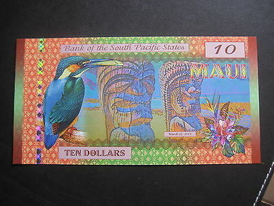 Bank Of South Pacific States - Polymer $10 - 22.03.2015 - Kamberra Unc