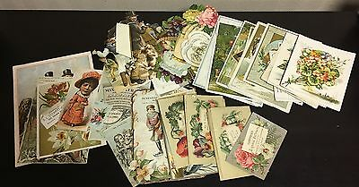Nice Lot of 1800s Victorian Trade Cards w/ Die Cuts, Shoes, Bitters, Coffee+!