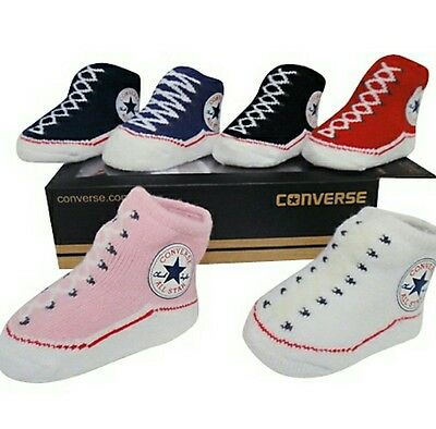 baby girl boy converse socks trainers booties