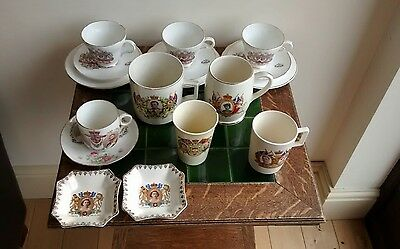 Collection of commemerative china - George V, VI, Elizabeth, Charles and Diana