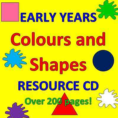 COLOURS AND SHAPES- Childminding resources on CD, EYFS, MATHS, CHILDMINDER