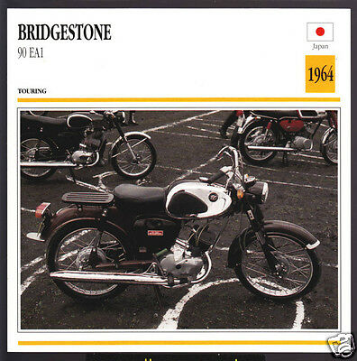 1964 Bridgestone 90cc EA1 (88cc) Japan Motorcycle Photo Spec Info Stat Card