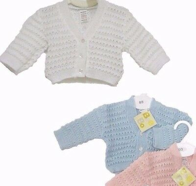 """BabyQI NEW """"Knitted Baby cardigan"""" clothes Boys Girls 0-3, 3-6, 6-12"""