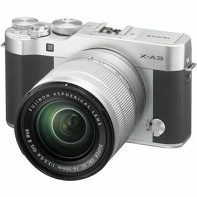 Fujifilm X-A3 Mirrorless Digital Camera with 16-50mm Lens (Silver) BRAND NEW!!