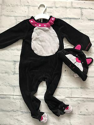 Baby Girls Clothes 9-12 Months - Halloween Cat Babygrow  Outfit