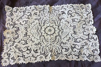 Antique Lace Doily NeedleLace Wedding Tea Tray Mat Bridal Art Nouveau Decor