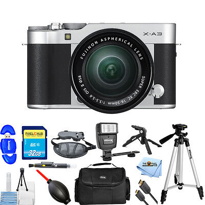 Fujifilm X-A3 Mirrorless Digital Camera with 16-50mm Lens (Silver) PRO KIT NEW!!